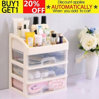New Plastic Storage Large 2/3 Drawers Makeup Storage Box Cosmetic Organizer