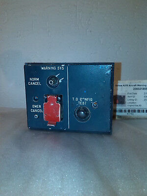 Airbus A310 Aircraft Warning System Control Panel 417 VU