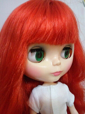 """12"""" Neo Blythe Doll From Factory Nude Doll Red  Hair With Bang"""