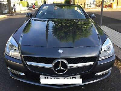 Mercedes Slk 200 Blue Efficiency 2013 Convertible Auto Done 38000 Miles Grey