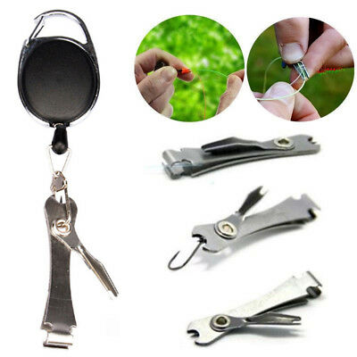 Knot Fly Tool Fishing Clippers Quick Line Nippers Cutter Snip Retractor DC AU