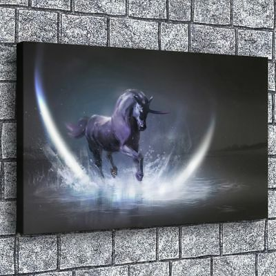 "12""x20""unicorns horse HD Canvas Prints Painting Home Room Decor Picture Wall Art"