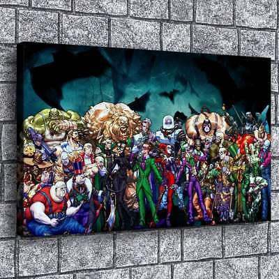 "12""x20""Batman Villains 2 HD Canvas Prints Painting Home Decor Picture Wall Art"