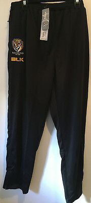 new 2017 AFL Richmond Tigers track pants size 5XL (black), with tags