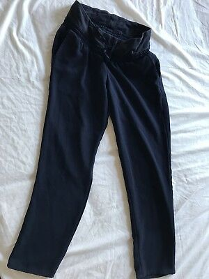 Size 6 Maternity Trousers H&M Navy Eur 36