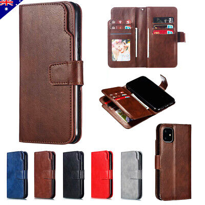 Luxury Leather Flip Wallet Case Card Stand Cover For iPhone Xs Max Xr 8 7 6 Plus