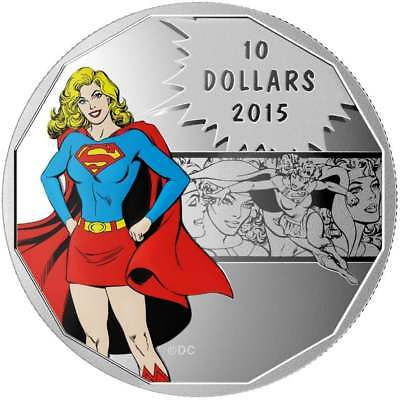 2015 $10 DC Comics Originals - Strength (Supergirl) 1/2oz .9999 Silver Coin RCM