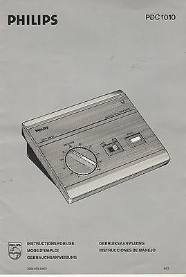 philips pdc 1010 timer for enlarge instructions booklet printed in 5 languages