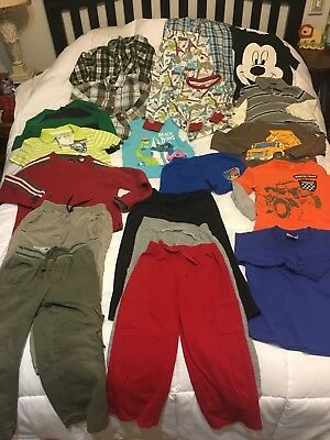 Lot Of 20 Boys Clothes, And Pajamas, Jumping Bean, Disney, Sonoma, Carter 4T.