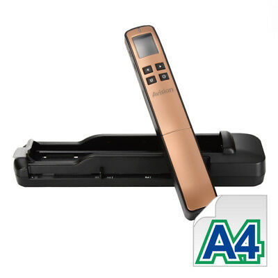 Avision Miwand2L PRO mobiler Scanner (600dpi, 4,5 cm (1,8 Zoll) USB 2.0) in Gold