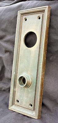 "5 avail 3""x8"" Antique Vintage Bronze Exterior Entry Door Knob Plate Escutcheon"