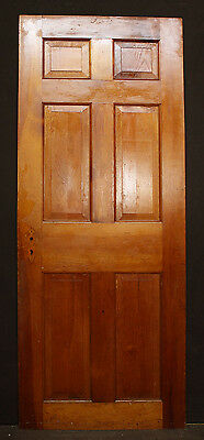 """2 avail 30""""x76"""" Antique Vintage Colonial Solid Wood Wooden Interior Door 6 Panel"""