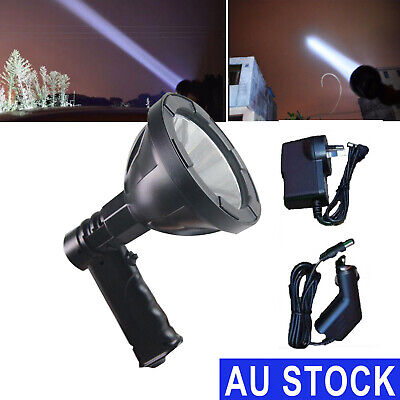 CREE LED 280000LM Rechargeable Spotlight Hunting Hand Held Torch Spot Light Camp