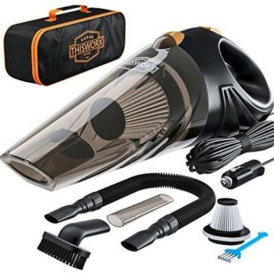 Powerful 12v Vacuum Portable For Pet Strong Suction Dry Wet Additional Filter