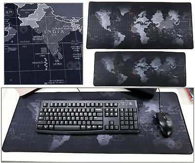 Large World Map Game Mouse Mat Pad Accessory For PC Laptop Computer Keyboard