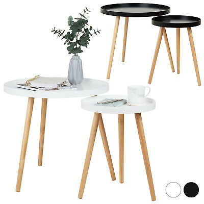 Hartleys Round Nest of 2 Side/End/Coffee Tray Tables Home/Living Room Furniture