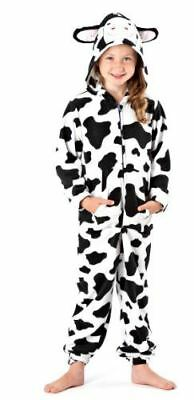 Onezes Jumpsuits Childrens Boys and Girls Fluffy Fleece Cow Design