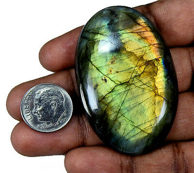 "188.50cts. Natural ""Classic"" Golden labradorite Cabochon Gemstone Oval ;#22839"