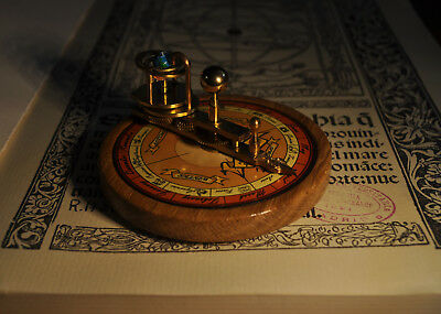 Brass and Wood Miniature Handmade Orrery Planetarium Astronomy Steampunk