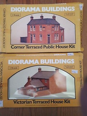 2 x Diorama Buildings, card kits. OO/HO scale. unmade in box