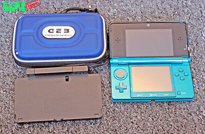 Nintendo 3Ds Aqua Blue Console Handheld System Ds Tested Working Very Rare!!