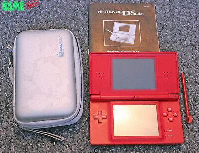Nintendo Ds Lite Red Console Handheld System Ds Light Tested Working Rare