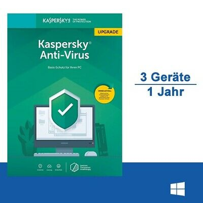 Kaspersky Anti-Virus 2019 Upgrade, 3 PC - 1 Jahr, ESD, Download
