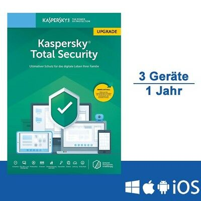 Kaspersky Total Security 2019 Upgrade, 3 Geräte - 1 Jahr, ESD, Download