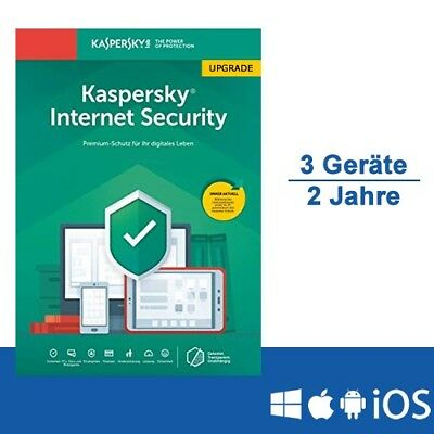 Kaspersky Internet Security 2019 Upgrade - Multi-Device, 3 Geräte - 2 Jahre, ESD