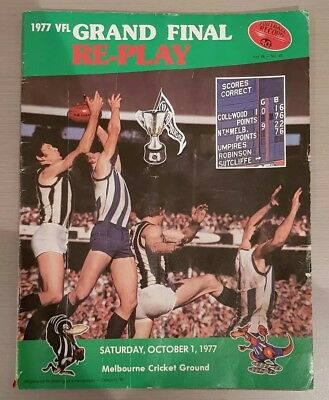 VFL Record 1977 Collingwood v North Melbourne  Grand Final Re-Play