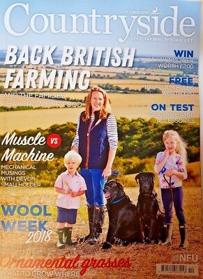COUNTRYSIDE Magazine = OCT 2018 = WOOL WEEK = ORNAMENTAL GRASSES = QUAD BIKES