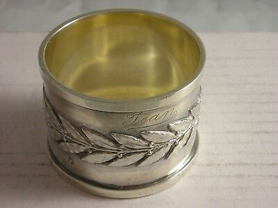 SUPERB Circa 1900 Paris French Silver Napkin Ring 63 grams great condition JEAN