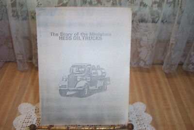 Vtg Hess Truck Paper Booklet Copy History Of Some First Miniature Hess Trucks.