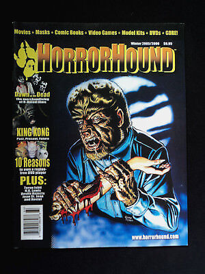 Horrorhound Magazine Issue #1 First Issue The Wolfman Cover Dawn Of The Dead