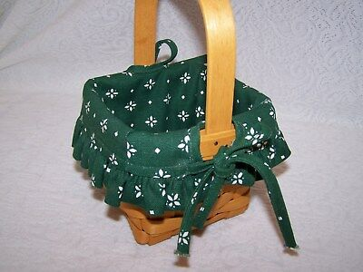 OTE HERITAGE GREEN LINER ONLY for SMALL PEG BASKET   new
