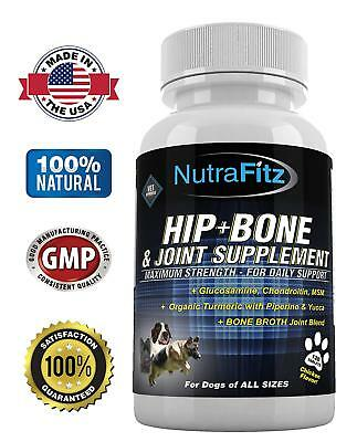 Hip Bone and Joint Supplement for Dogs -Glucosamine Chondroitin for Dogs, MSM, O