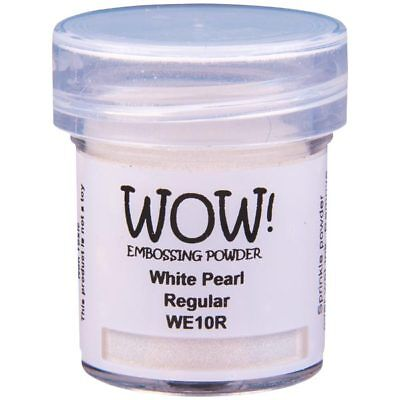 WOW! Pearlescent Embossing Powder White Pearl Regular | 15ml Jar