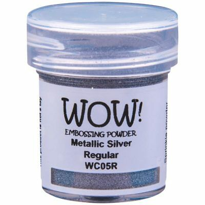 WOW! Metallic Embossing Powder Silver Regular | 15ml Jar
