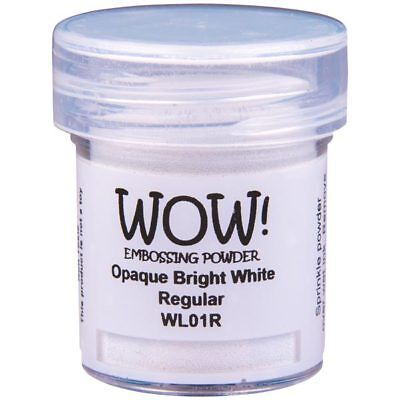 WOW! Opaque Whites Embossing Powder Bright White Regular | 15ml Jar
