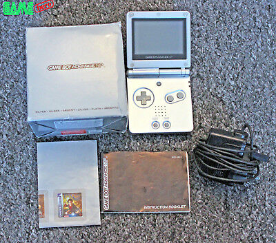 Nintendo Game Boy Advance Sp Platinum Silver Boxed Console Gameboy Gba System