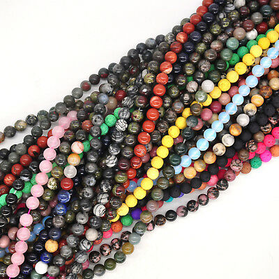 Wholesale Natural Gemstone Crystal Round Spacer Loose Beads 4MM 6MM 8MM 10MM