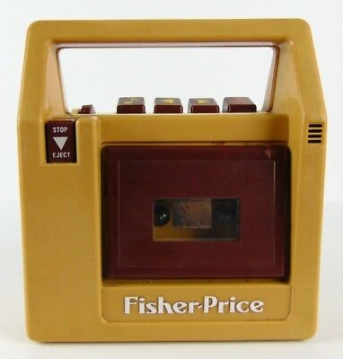 Vintage Fisher Price Brown Cassette Tape Player Recorder 826 Tested 1980