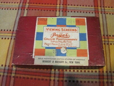 Vintage Viewing Screens Paget Colour Photography Watford UK Herbert Huesgen NY