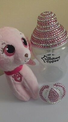 Baby bling bottle/ baby gift set/ Tommee tippee bottle and dummy