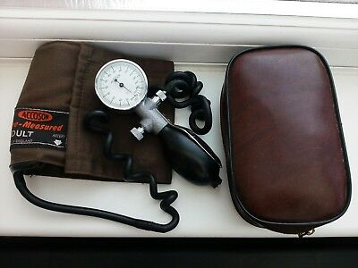 Accoson Portable Blood Pressure Sphygmomanometer with carry bag made in England