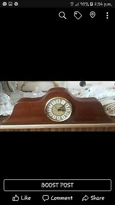 Old Wooden Mantel Clock working order