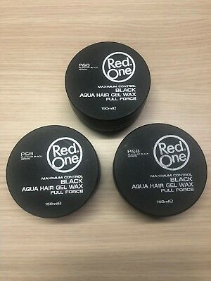 3 X Cire Coiffante Red One Black Aqua Wax 150 Ml