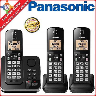 Panasonic DECT 6.0 Cordless Home Phone 3 Handset Answering System Cert Refurbish