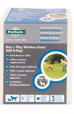 Petsafe Stay+Play Wireless Fence Add-A-Dog Extra Receiver Collar PIF19-14011 NEW