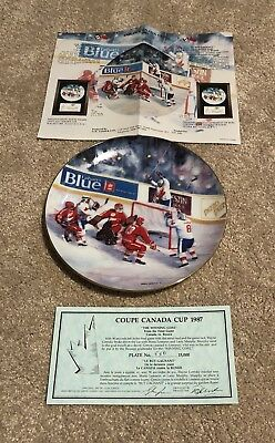 Rare Wayne Gretzky Limited Edition Team Canada Collectors Plate Numbered